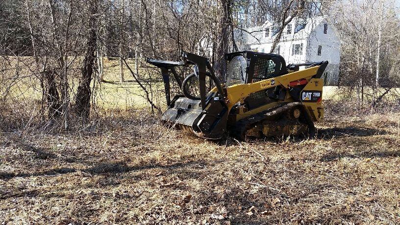 land clearing-mulcher head-lot-real estate