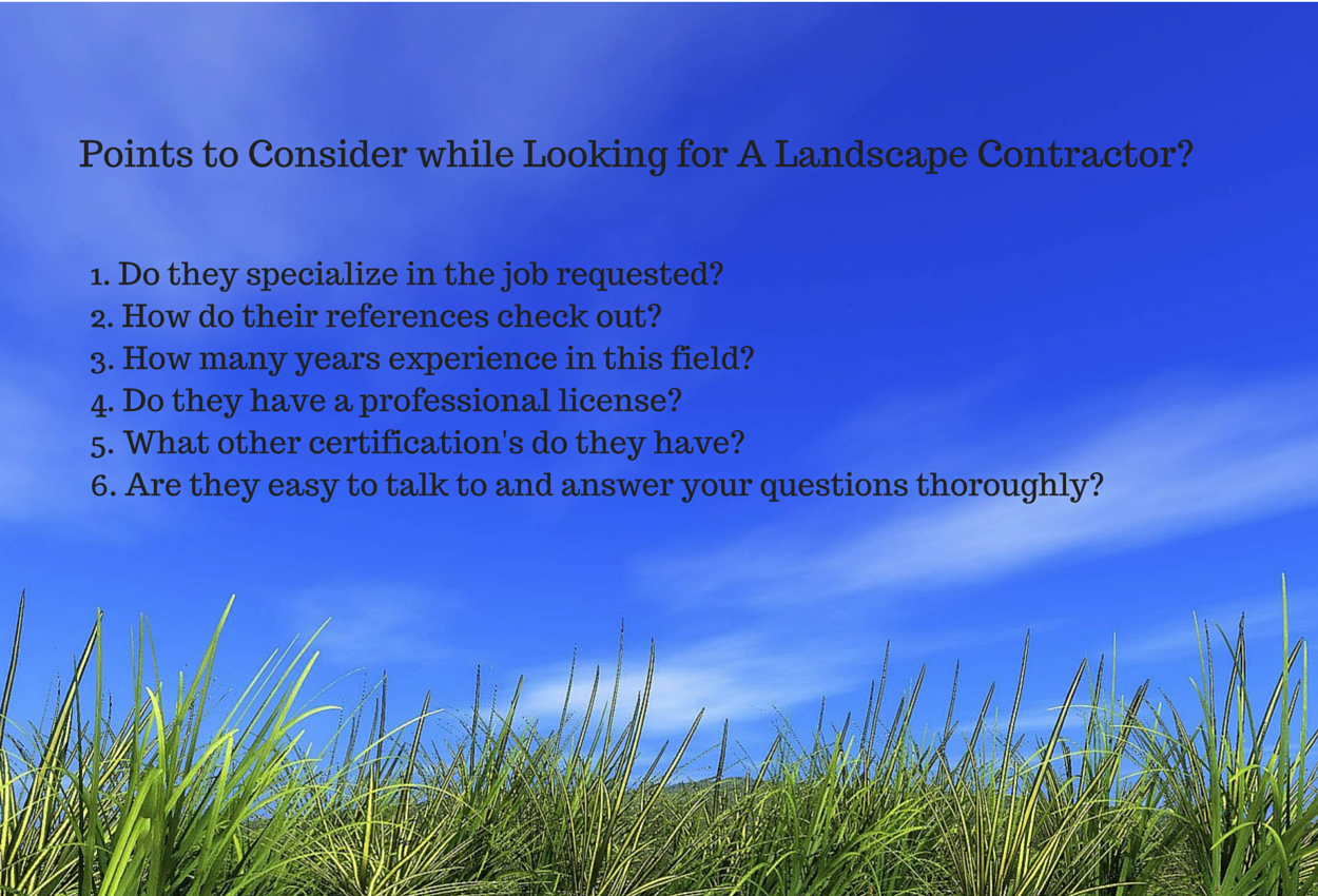 Pick a landscape contractor