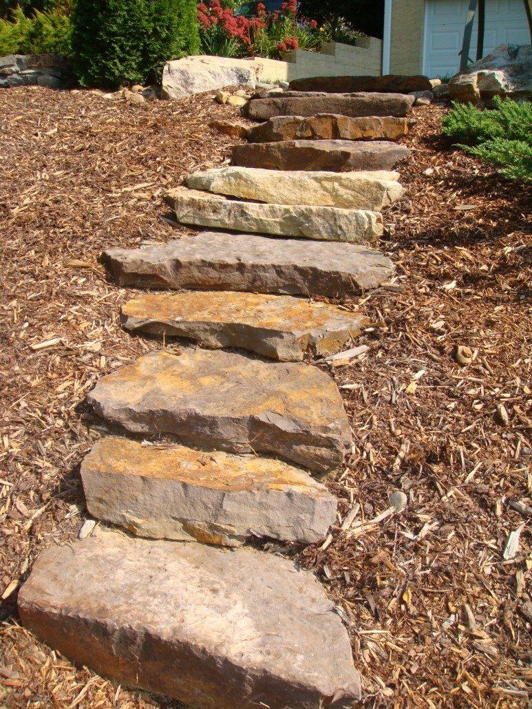 Natural Building Stone Steps : Retaining walls asheville weaverville nc