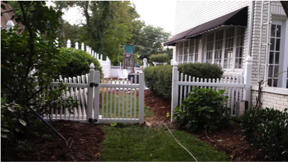 Vinyl fencing creates a low maintenance solution for privacy