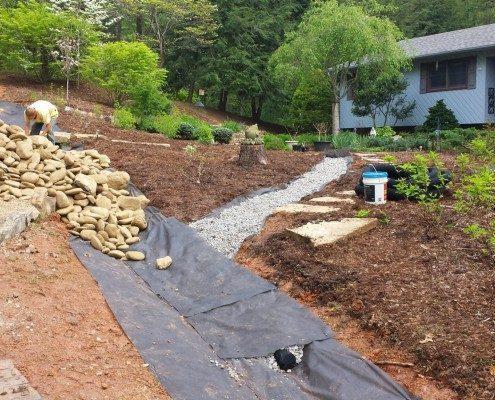drainage-frontyard-gravel-stone