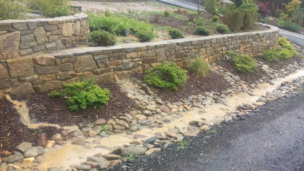 ... Drainage Terraced Landscaping Retaining Walls Stone Rock Gravel  Driveway. U201c