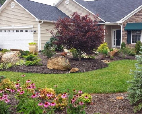 frontyard makeover-landscaping-drainage-Weaverville