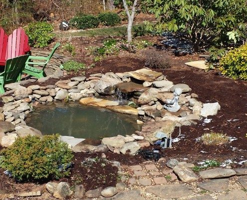 koi pond-water feature-outdoor room