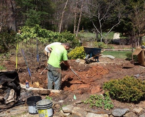 pond installations-koi pond-flagstone-outdoor space