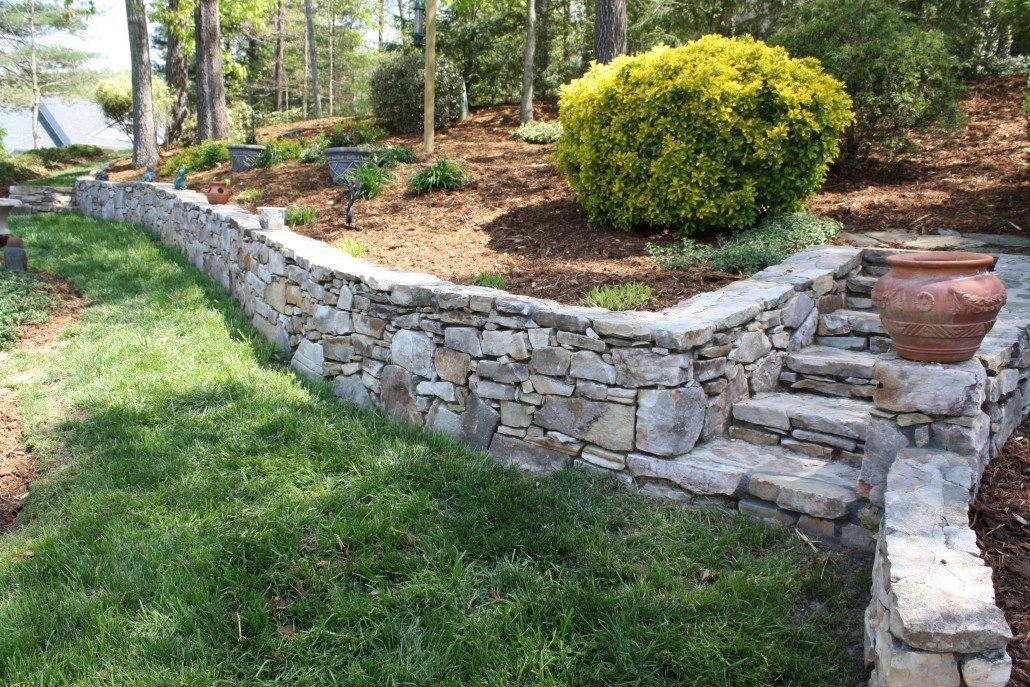 Retaining Wall Soil Erosion Native Stone Hardscape Asheville ...