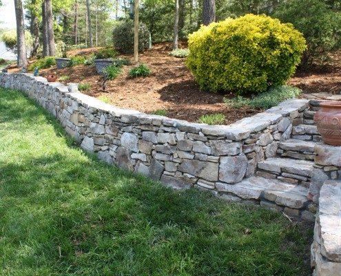 retaining wall-soil erosion-native stone-hardscape-Asheville