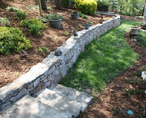 retaining wall-stone-Asheville