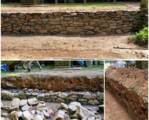 stonewall-retaining wall-stone