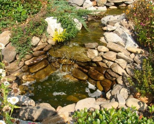 water feature-stonework