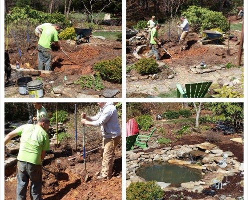 waterfall-pond-water feature-koi pond-Asheville