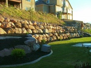 Boulder wall-retaining wall-erosion