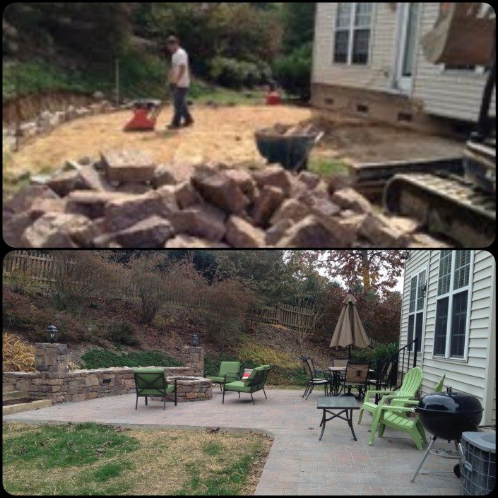 firepit-patio-retaining wall