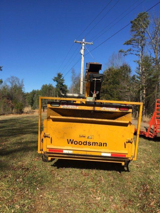 Woodsman18x Chipper-tree work-chipping-mulching-Asheville-Weaverville