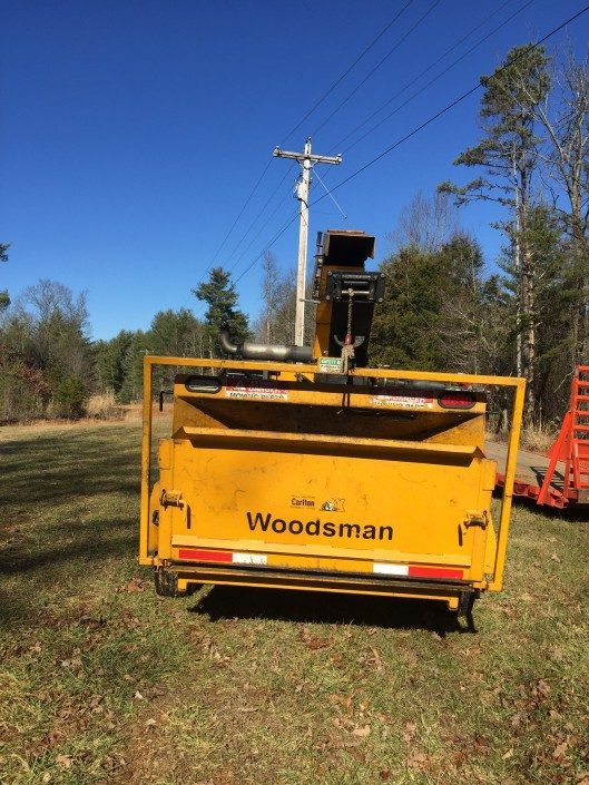 Woodsman18x Chipper-tree work-chipping-mulching-Asheville-Weaverville