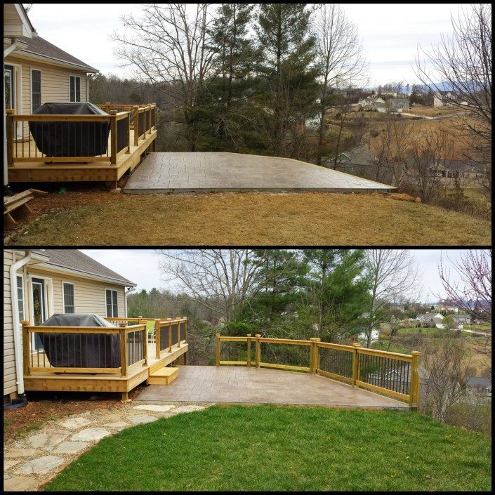 before-patio-decking