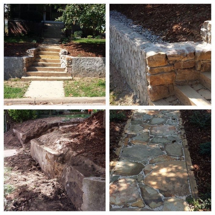 retaining wall-Asheville-flagstone