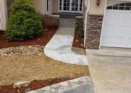 concrete walkway-drainage-driveway extention