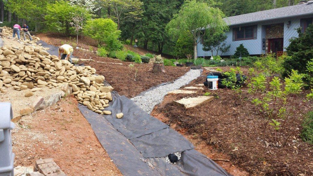 Landscaping Yard Drainage : Lawn n order landscaping llc