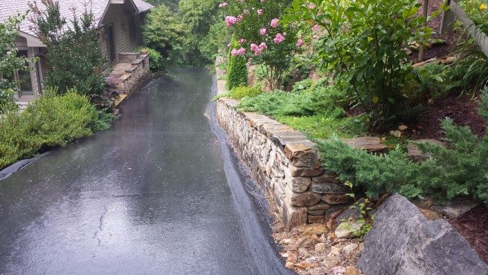 driveway-asphalt-retaining wall-Asheville