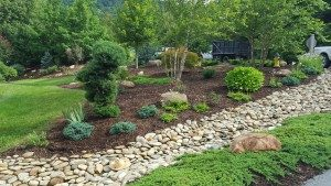 dry river rock bed-landscaper-Asheville-Weaverville