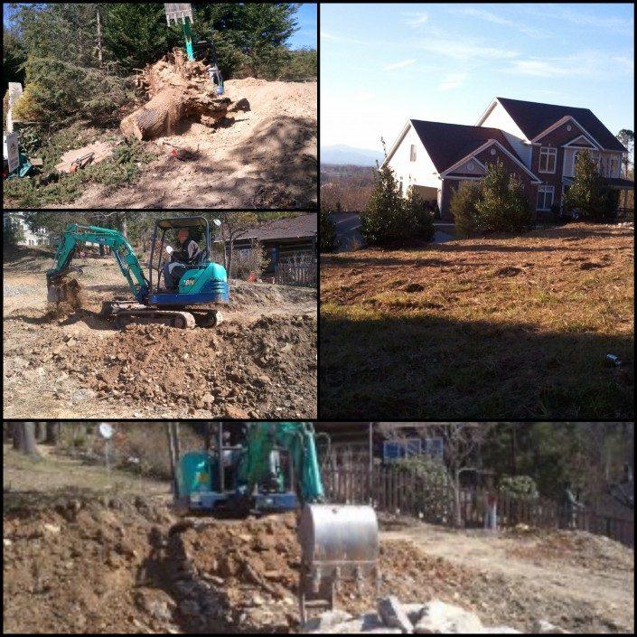 excavation-cleanup-steep slopes-Asheville-landscapes