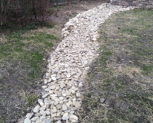 french drain-storm water-Asheville
