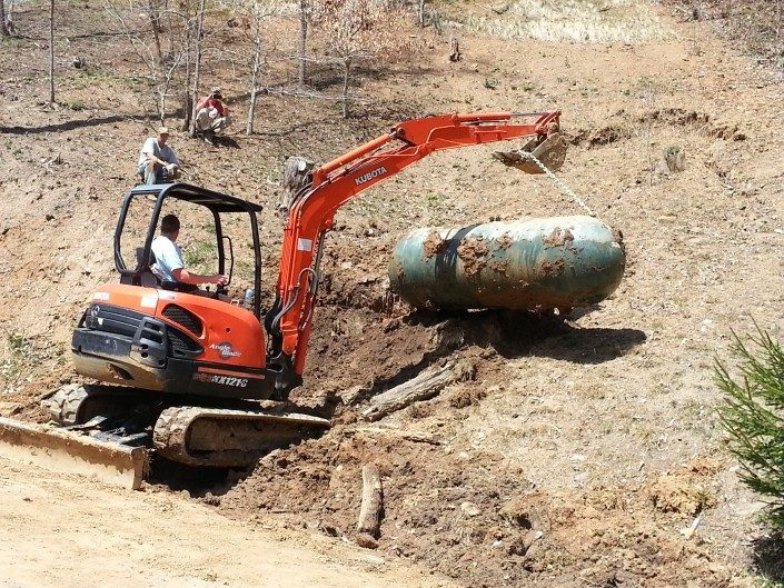 machinery-landscape renovations-real estate-improvements