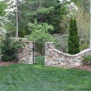 natural stone retaining walls-garden gates-Asheville