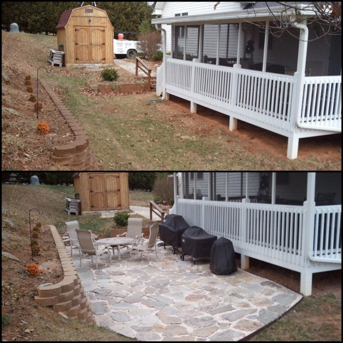 outdoor patio-flagstone-backyard