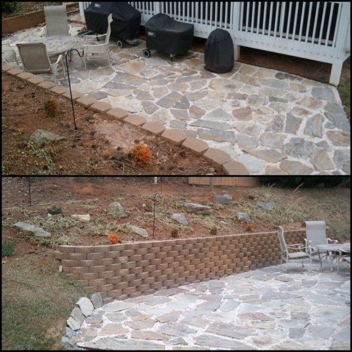 patio-landscaper-retaining wall-landscapes