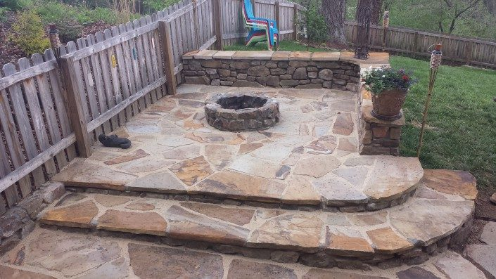 patio-stonework-firepit-Lawn-N-Order Landscaping