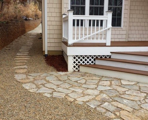 patio-walkway-gravel-retaining walls