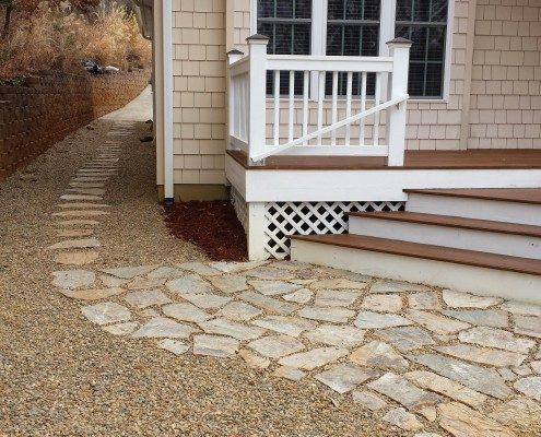 patio-walkway-gravel-retaining walls