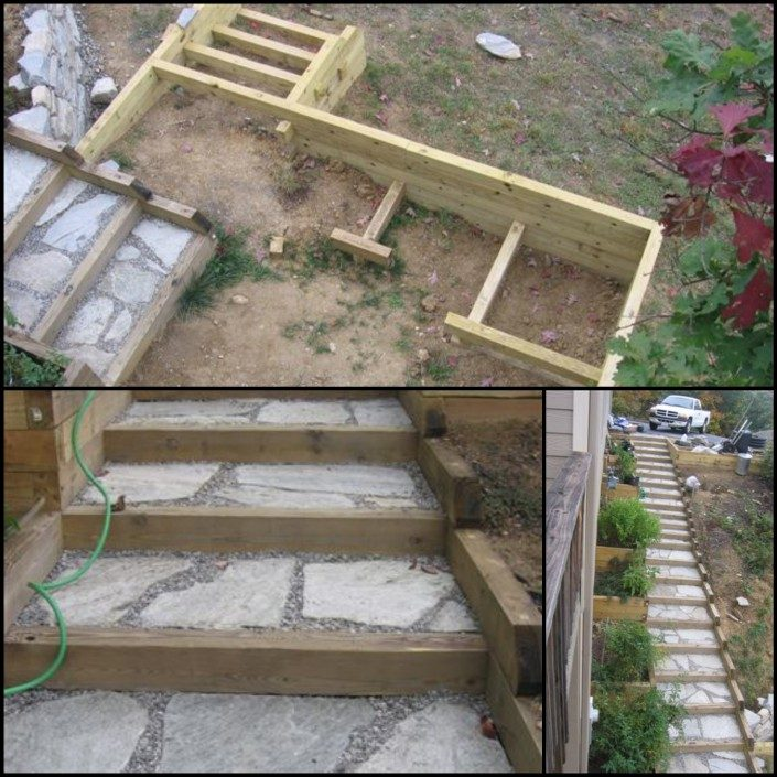steps-patio-landscaping-Asheville-landscaper-hillside