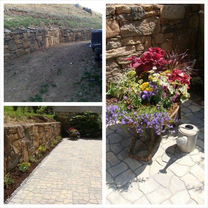 stonewall-patio-pavers-stonework-container gardens