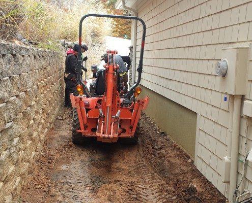 track hoe-mini excavator-drainage