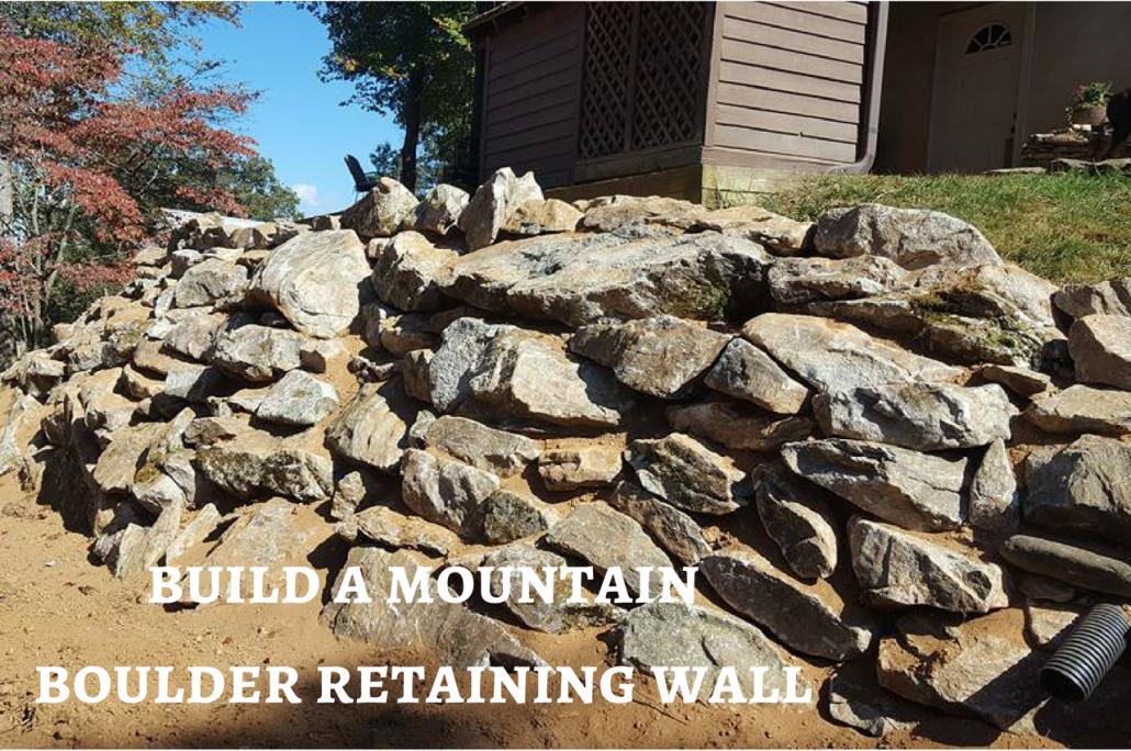 mountain boulder retaining wall